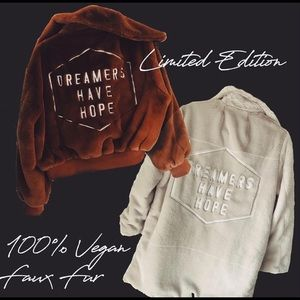honorable citizens Jackets & Coats - NEW Dreamers Have Hope festival faux fur jacket
